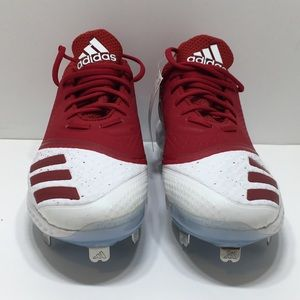 Adidas Icon V Bounce W Softball Cleats Red White